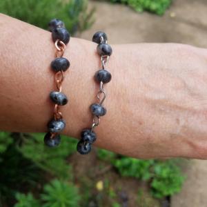 Labradorite Bracelets Copper Stainless